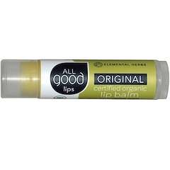 All Good Products, All Good Lips, Certified Organic Lip Balm, Original, 4.25 g