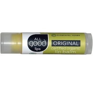 All Good Products, Todos los labios buenos, bálsamo para labios orgánico y certificado, original, 4.25 g