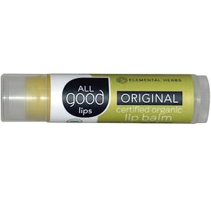 All Good Products, All Good Lips, сертифицированный органический бальзам для губ, оригинальный, 4,25 г инструкция, применение, состав, противопоказания