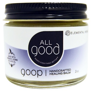 All Good Products, All Good, Goop, Handcrafted Healing Balm, 2 oz