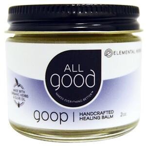 All Good Products, Лечебный бальзам All Good Goop, сделанный вручную, 2 унции инструкция, применение, состав, противопоказания