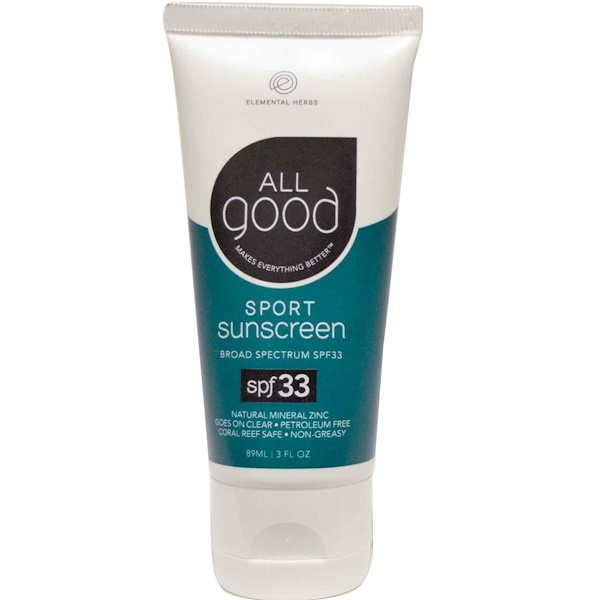 All Good Products, Sport Sunscreen, SPF 33, 3 fl oz (89 ml) (Discontinued Item)