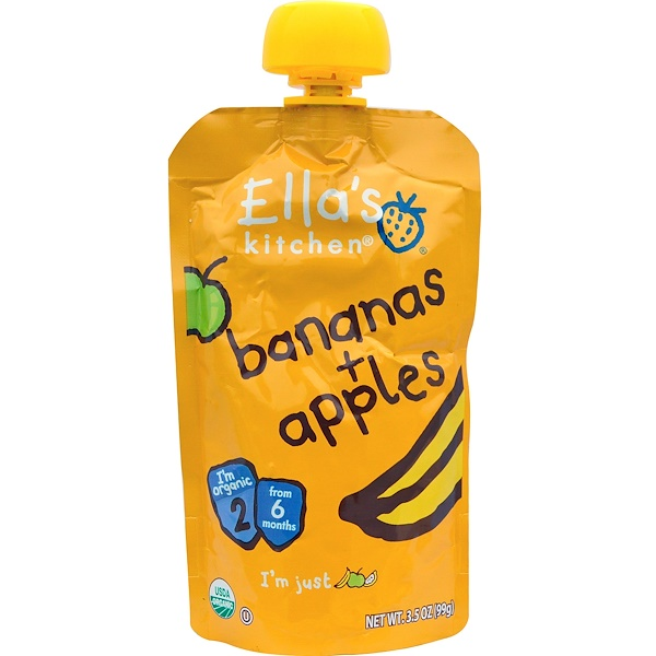 Ella's Kitchen, Bananas + Apples, 3.5 oz (99 g)