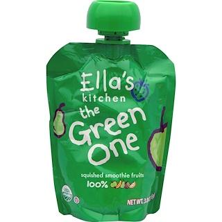 Ella's Kitchen, 緑色のヤツ, 押し潰したスムージーフルーツ, 3.0オンス(85 g)