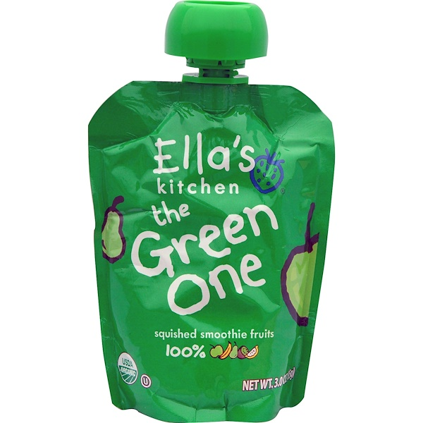 Ella's Kitchen, The Green One, Squished Smoothie Fruits, 3 oz (85 g) (Discontinued Item)