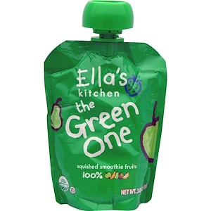 Эллас Китчен, The Green One, Squished Smoothie Fruits, 3 oz (85 g) отзывы покупателей