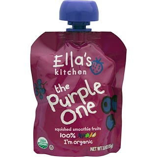 Ella's Kitchen, The Purple One, Vitamina de frutas, 85 g