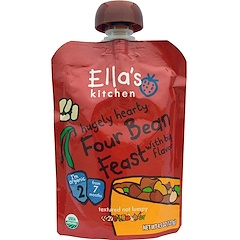 Ella's Kitchen, Hugely Hearty, Four Bean Feast, 4.5 oz (127 g)