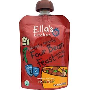 Ella's Kitchen, Hugely Сердечный, Четыре Bean Feast, 4,5 унции (127 г) инструкция, применение, состав, противопоказания