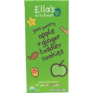 Ella's Kitchen, Детское печенье, яблоко + имбирь, 12 упаковок, 9 г каждая инструкция, применение, состав, противопоказания
