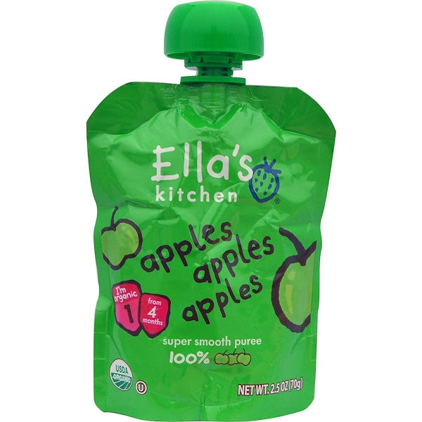 Ella's Kitchen, Apples Apples Apples, 2.5 oz (70 g) (Discontinued Item)