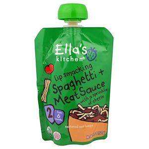 Ella's Kitchen, Spaghetti + Meat Sauce with a sprinkle of cheese, Stage 2, 7 months +, 4.5 oz инструкция, применение, состав, противопоказания