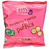Ella's Kitchen, Raspberry + Vanilla Puffits, 5 Handy Bags, 1.06 oz (6 g) Each