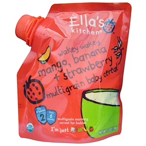 Эллас Китчен, Wakey Wakey Mango, Banana + Strawberry Multigrain Baby Cereal, Stage 2, 5.3 oz (150 g) отзывы
