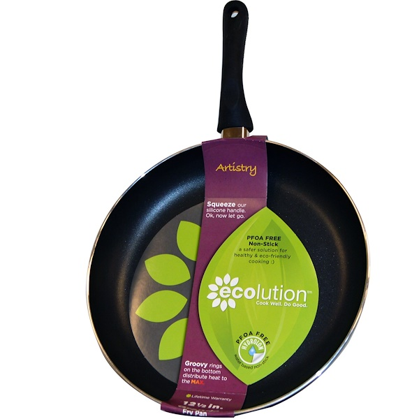 Ecolution, Fry Pan, Grande, 12 1/2 in, 1 Pan (Discontinued Item)