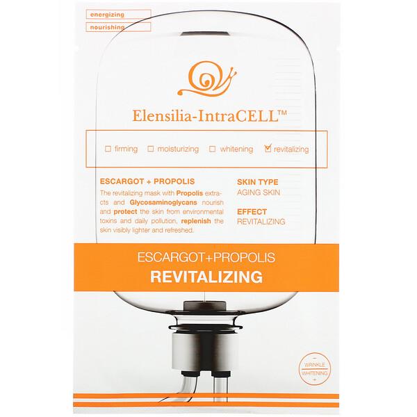 Elensilia, Elensilia-IntraCELL, Escargot + Propolis Revitalizing Beauty Mask, 10 Sheets, 0.85 fl oz (25 ml) Each