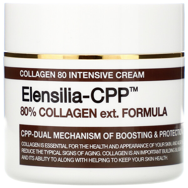 Elensilia-CPP, Collagen 80 Intensive Cream, 50 g