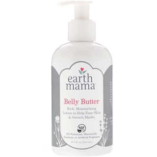 Earth Mama, Loción para la Barriguita, 8 fl oz (240 ml)