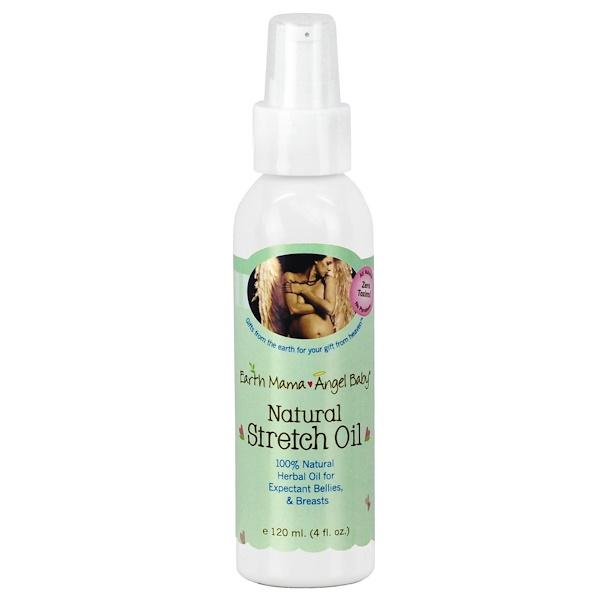 Earth Mama Angel Baby, Natural Stretch Oil, 4 fl oz (120 ml)