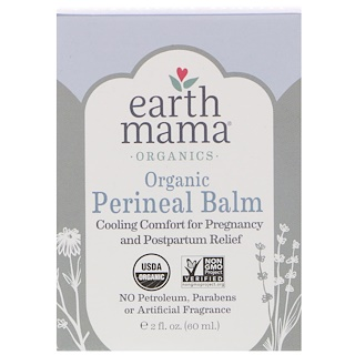 Earth Mama, Bálsamo perineal orgânico, 2 fl oz (60 ml)