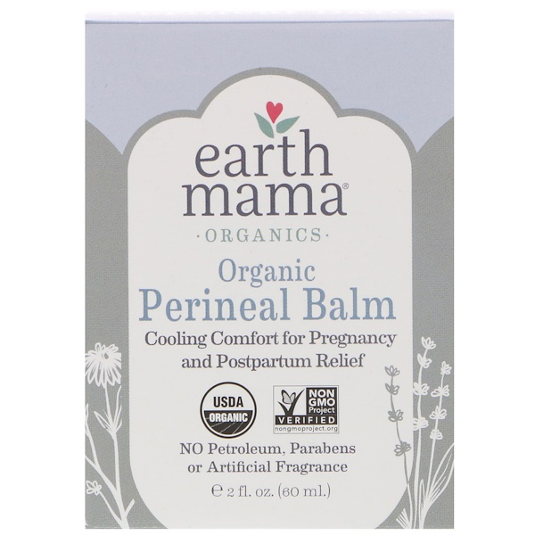 Earth Mama, Organic Perineal Balm, 2 fl oz (60 ml) (Discontinued Item)
