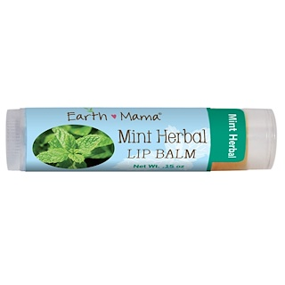 Earth Mama Angel Baby, Mint Herbal Lip Balm, .15 oz (4 ml)