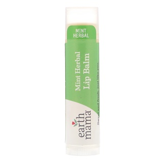 Earth Mama, Mint Herbal Lip Balm, .15 oz (4 ml)