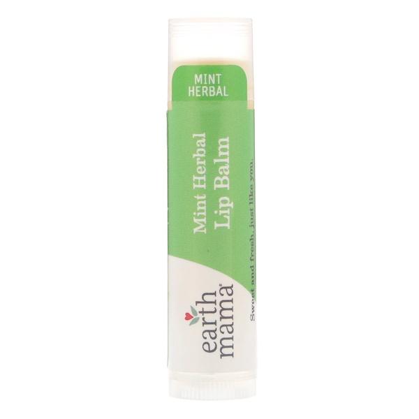 Earth Mama, Lip Balm, Mint Herbal, .15 oz (4 ml) (Discontinued Item)