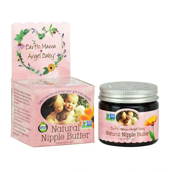 Earth Mama Angel Baby, Natural Nipple Butter, 2 fl oz (60 ml)