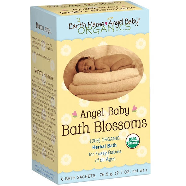 Earth Mama, Angel Baby Bath Blossoms, 6 Bath Sachets, 2.7 oz (76.5 g) (Discontinued Item)