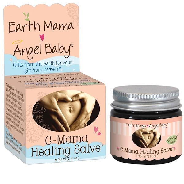 Earth Mama Angel Baby, C-Mama Healing Salve, 1 fl oz (30 ml)