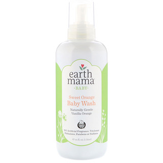Earth Mama, Baby, Sweet Orange Baby Wash, Vanilla Orange, 34 fl oz (1 l)