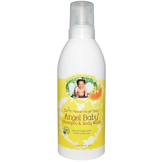 Earth Mama Angel Baby, Angel Baby Shampoo & Body Wash, Natural Orange Vanilla, 34 fl oz (1 l)