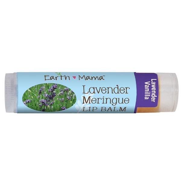Earth Mama Angel Baby, Lavender Meringue Lip Balm, Lavender Vanilla, .15 oz (4 ml)