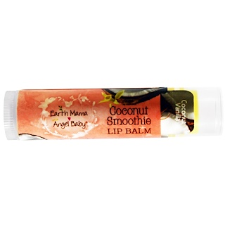 Earth Mama Angel Baby, Coconut Smoothie Lip Balm, Coconut Vanilla, .15 oz (4 ml)