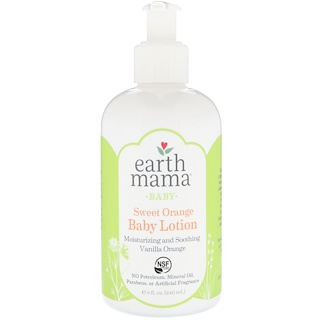 Earth Mama, Baby, Sweet Orange Baby Lotion, Vanilla Orange, 8 fl oz (240 ml)