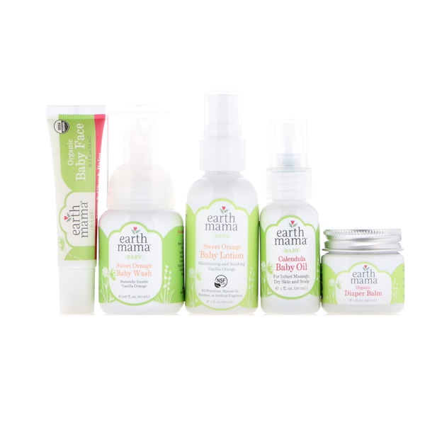 Earth Mama, A Little Something for Baby, 5 Piece Set (Discontinued Item)