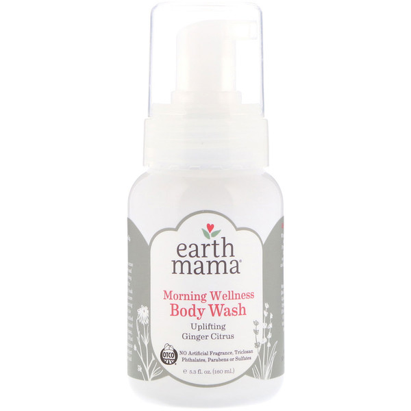 Earth Mama, Morning Wellness Body Wash, Ginger Citrus, 5.3 fl oz (160 ml)