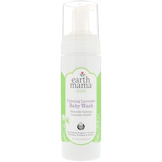 Earth Mama, Baby, Calming Lavender Baby Wash, Lavender Vanilla, 5.3 fl oz (160 ml)
