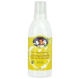 Earth Mama Angel Baby, Успокаивающий шампунь и средство для тела с лавандой, лаванда и ваниль, 34 жидких унций (1 л)