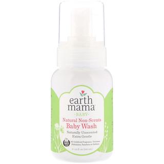Earth Mama, ベビー、天然かつ無香料のベビーウォッシュ、無香料 、5.3 fl oz (160 ml)