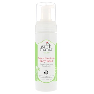 Earth Mama, Baby, Natural Non-Scents Baby Wash, Unscented, 5.3 fl oz (160 ml)