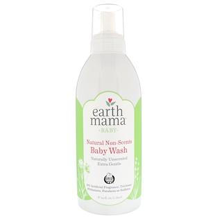 Earth Mama, 赤ちゃん用、天然無香料ベビーウォッシュ、香料無添加、1L