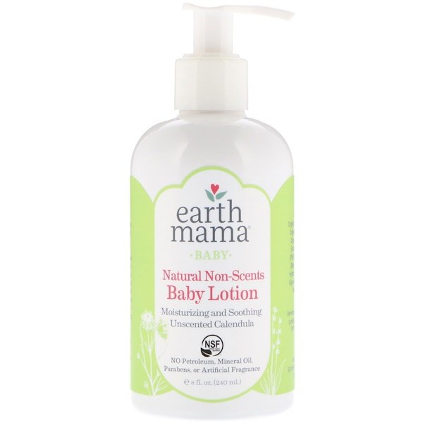 Earth Mama, Baby, Natural Non-Scents, Baby Lotion, Unscented Calendula, 8 fl oz (240 ml) (Discontinued Item)