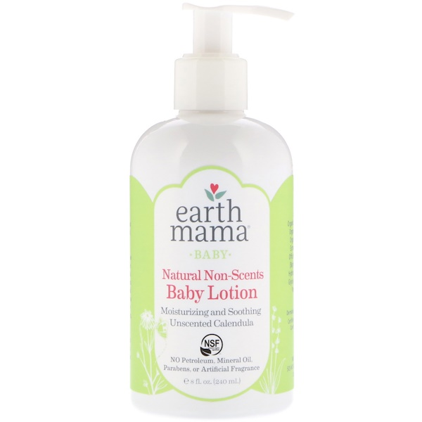 Earth Mama, Baby, Natural Non-Scents, Baby Lotion, Unscented Calendula, 8 fl oz (240 ml)