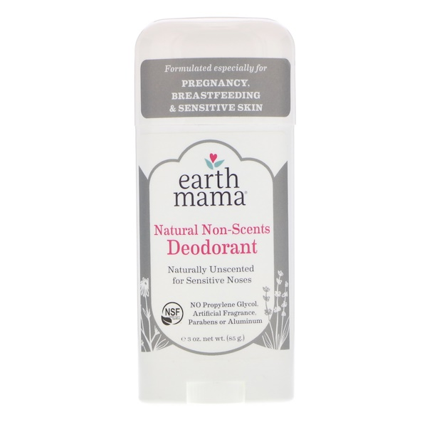 Earth Mama, Deodorant, Natural Non-Scents, 3 oz (85 g) (Discontinued Item)