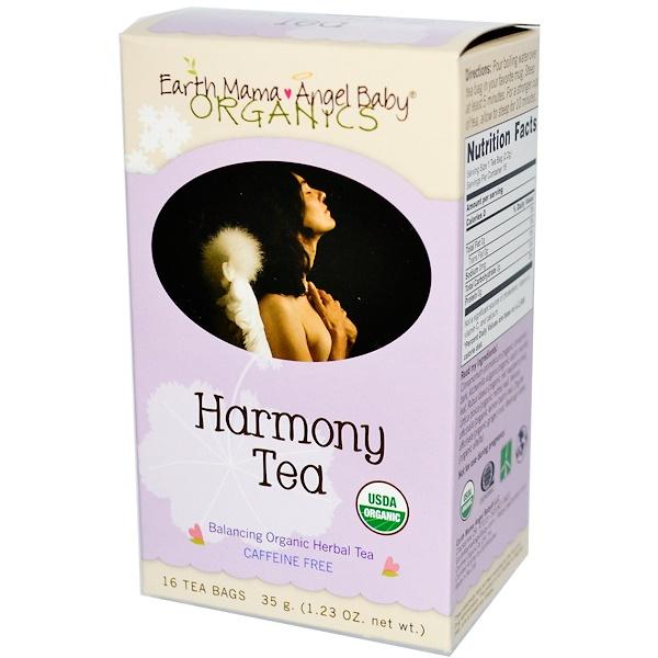 Earth Mama, Organics, Harmony Tea, Caffeine Free, 16 Tea Bags, 1.23 oz (35 g) (Discontinued Item)