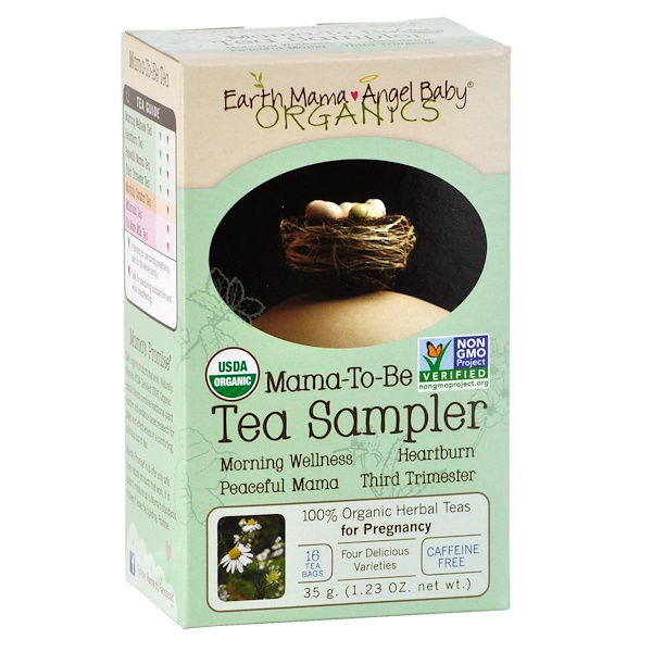 Earth Mama, Organics, Mama-To-Be Tea Sampler, Caffeine Free, 16 Tea Bags, 1.23 oz (35 g) (Discontinued Item)
