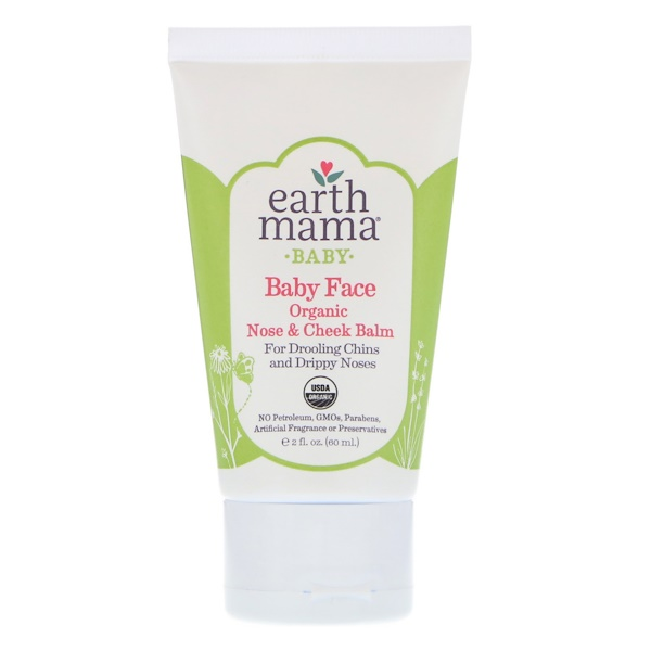 Earth Mama, Baby, Baby Face Organic Nose & Cheek Balm, 2 fl oz (60 ml) (Discontinued Item)
