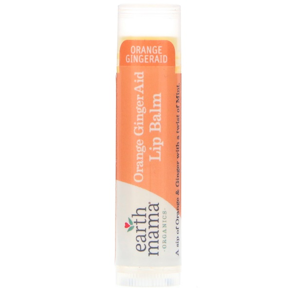Earth Mama, Orange GingerAid, Lip Balm, .15 oz (4 ml) (Discontinued Item)